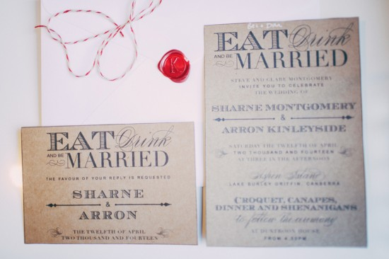Sharne Arron Married 0100 550x366 Sharne and Arrons Vintage DIY Canberra Wedding