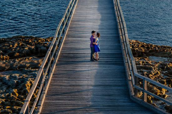 sunset island engagement025