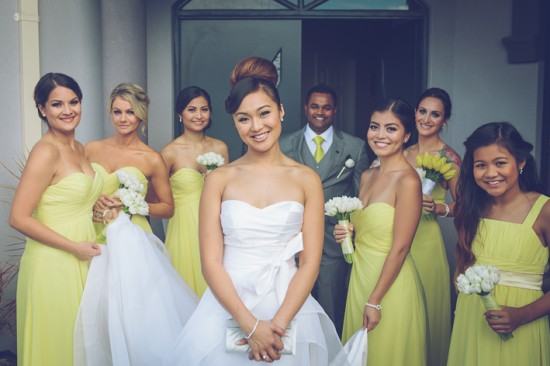1 Pre ceremony LR 1431 550x366 Frances and Aarons White and Yellow Winter Wedding