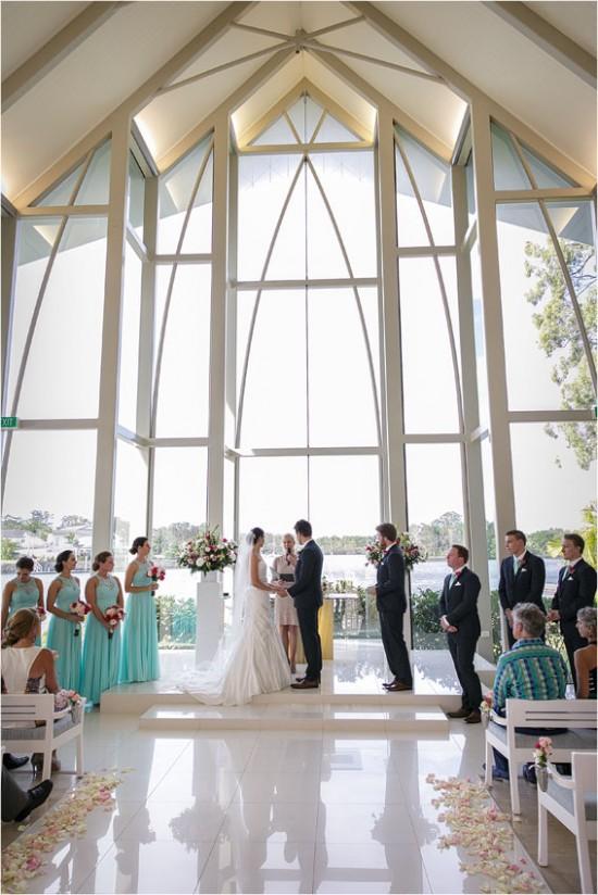 3311 550x824 Josh & Kassis Aqua Blue Wedding In The Glasshouse