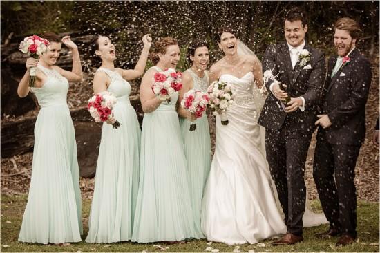 4821 550x366 Josh & Kassis Aqua Blue Wedding In The Glasshouse