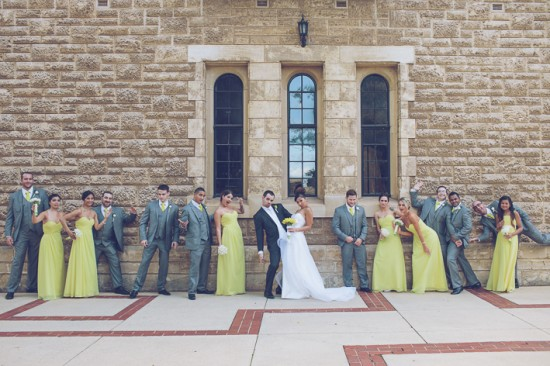 5 Bridal Party Portraits LR 002 550x366 Frances and Aarons White and Yellow Winter Wedding