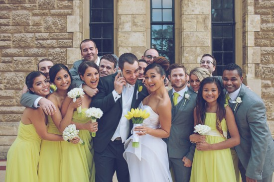 5 Bridal Party Portraits LR 007 550x366 Frances and Aarons White and Yellow Winter Wedding