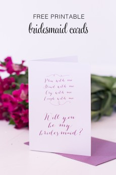 Akimbo bridesmaid card