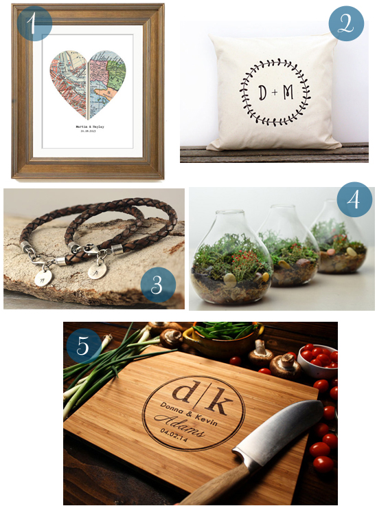 Anniversary Gift Guide The First Five Years: Wedding Anniversary Gift Guide