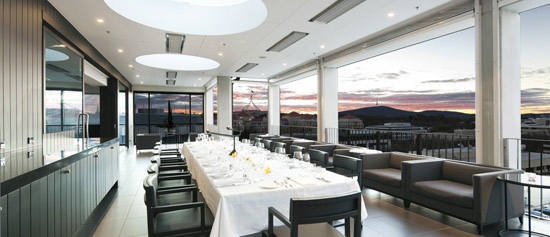 Canberra rooftop wedding space