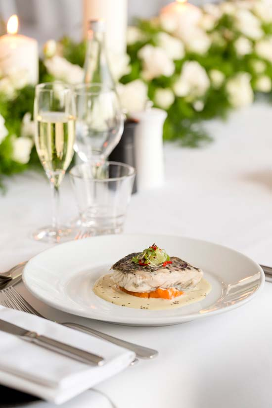 Fraser Suites Perth Barramundi meal The Paleo Wedding at Fraser Suites, Perth Interview with Pete Evans