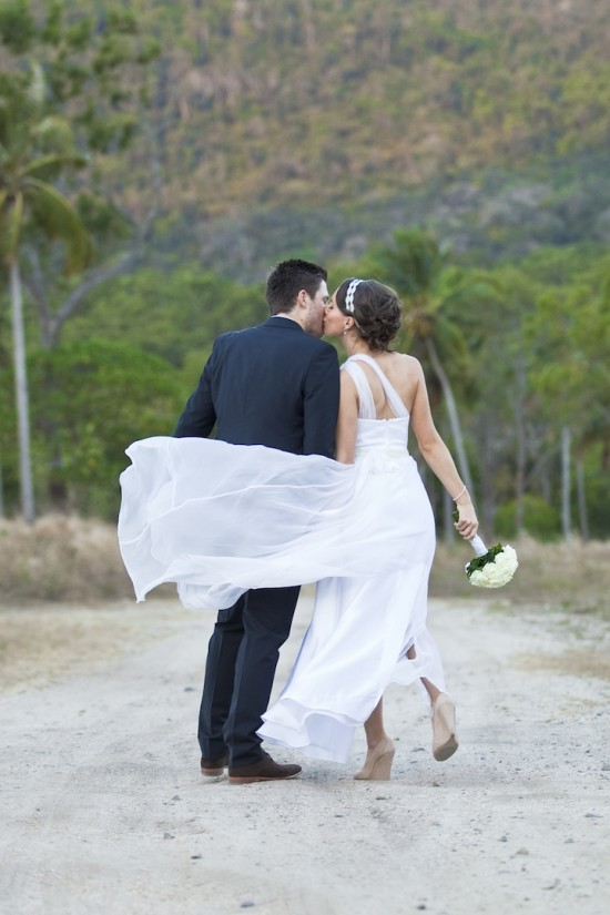 Jess Dave beach 550x825 Whitsundays Weddings: Peppers Airlie Beach