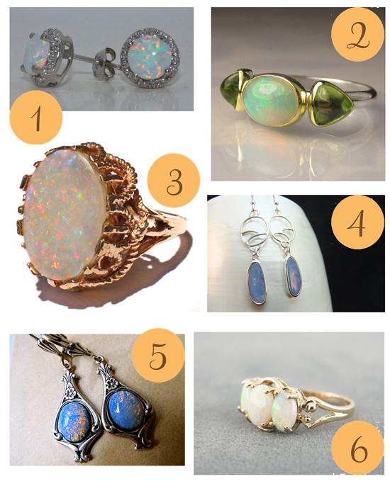 Opal Jewellery Etsy Roundup Opal Jewellery