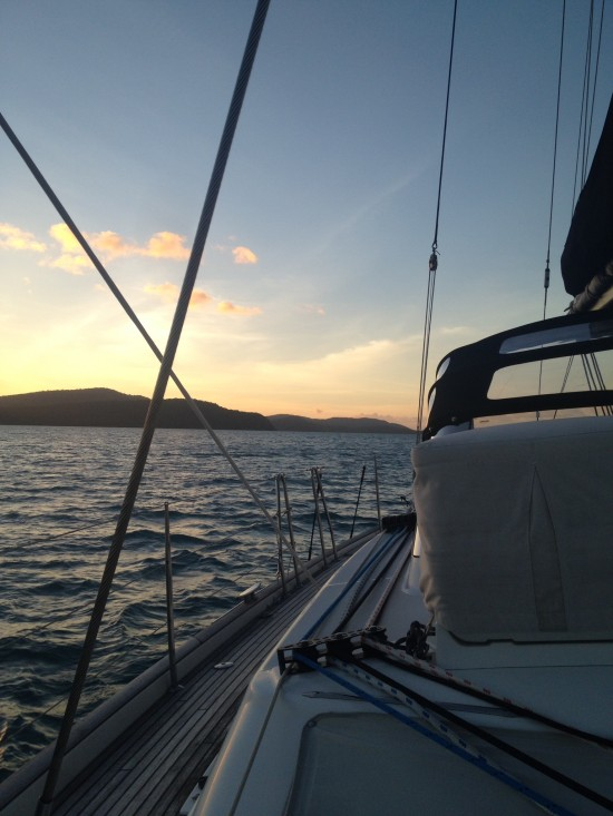 Sunset Cruising Papillon 550x733 Whitsundays Weddings: Peppers Airlie Beach