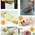 Vintage floral sashes