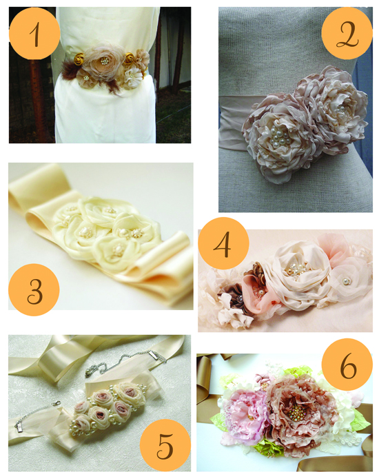Vintage floral sashes Etsy Roundup Vintage Style Flower Sashes
