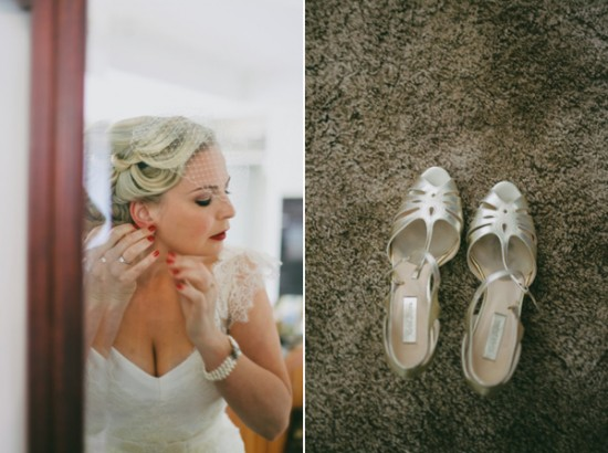 Wedding Shoes 550x410 Leea and Roberts Vintage Style Barn Wedding
