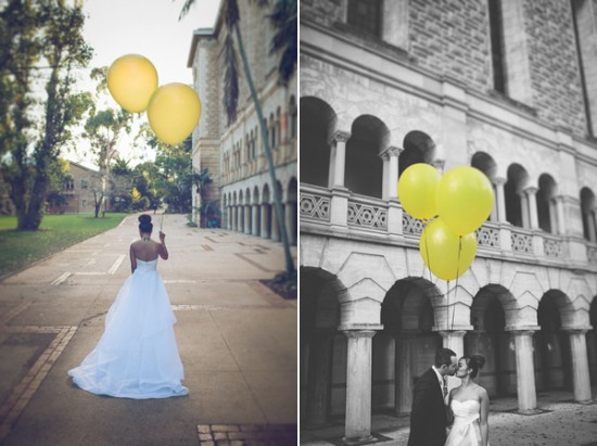 yellow and white winter wedding2252 550x411 Frances and Aarons White and Yellow Winter Wedding