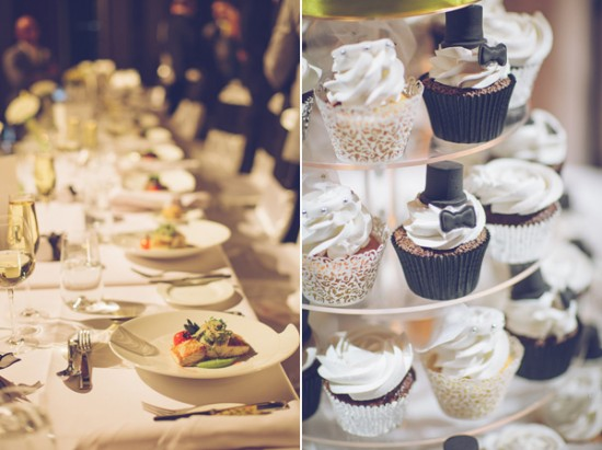 yellow and white winter wedding2253 550x411 Frances and Aarons White and Yellow Winter Wedding