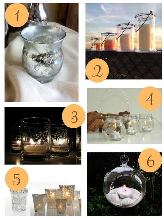 Glass candle holders Etsy Roundup Glass Candle Holders