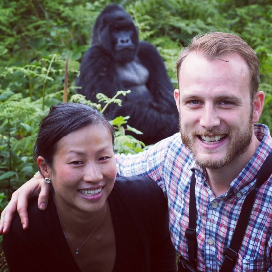 Gorilla photobomb 550x550 Groom's Africa Honeymoon Report: Adventure, Animals and Elton