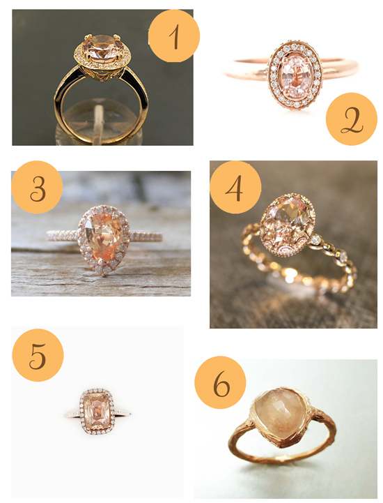 Peach Coloured Rings Etsy Roundup Peach Coloured Rings