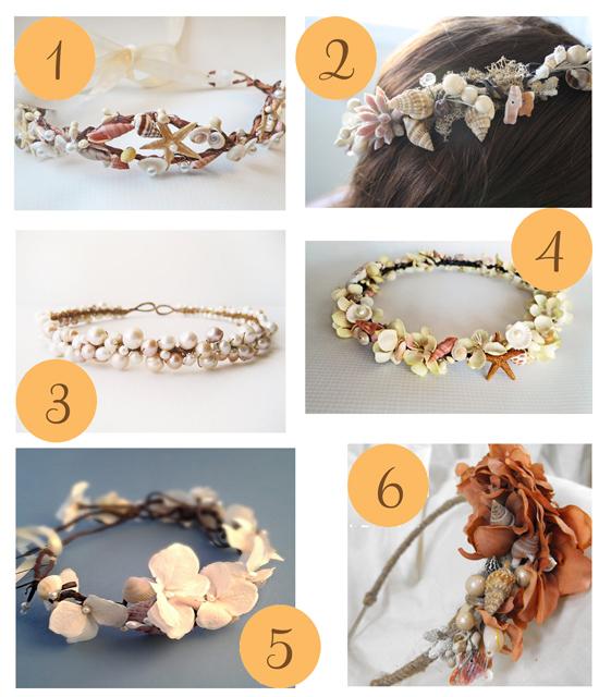 Beach flower crowns1 Etsy Roundup Beach Wedding Crowns