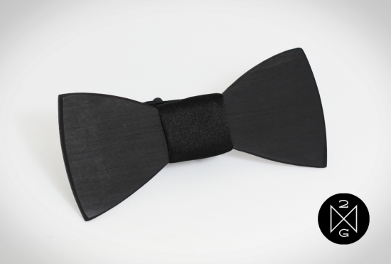 Bowtie BlackEbony Black 34187.1405352324.1280.1280 550x371 Wooden Bow Ties From Two Guys Bow Ties