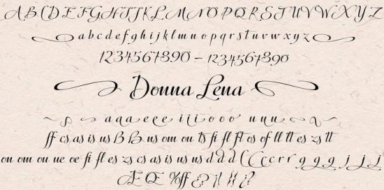 Donna Lena Webfont Desktop font « MyFonts 550x272 Tuesday Type Donna Lena