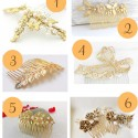 Gold Hair Combs
