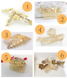 Gold Hair Combs