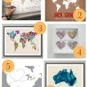 Map Art Prints 125x125 Friday Roundup