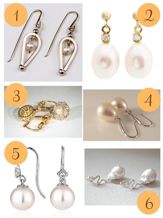 Pearl Drop Earrings Etsy Roundup Pearl Drop Earrings