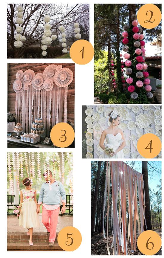 Wedding backdrops Etsy Roundup Wedding Backdrops