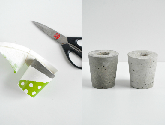 diy concrete candle holders4.0 Concrete DIY Candle Holders