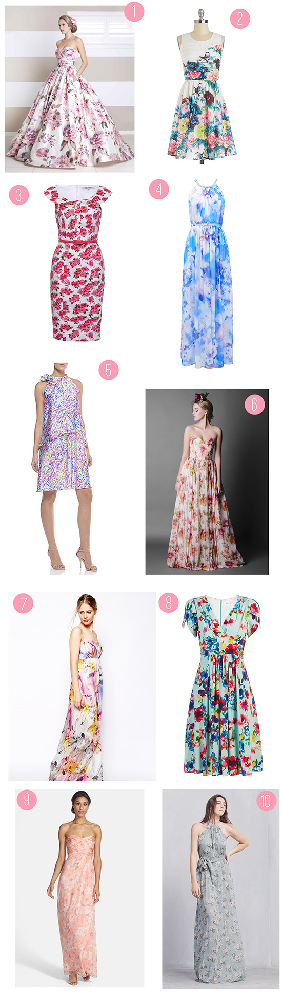 floral printed dresses 10 Floral Print Dresses I Adore