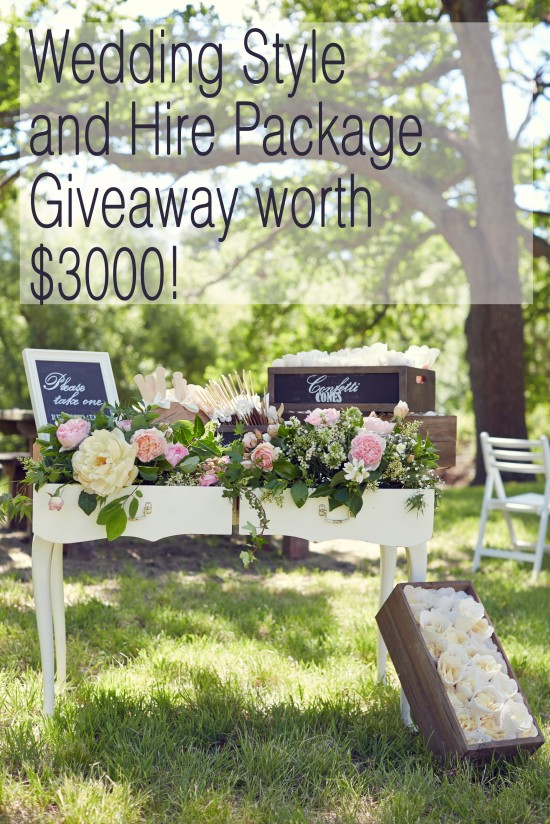 header 550x824 Wedding Style and Hire Package Giveaway Worth $3000!