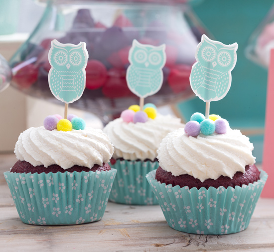 owl cupcakes Fun Party Decor From Typo