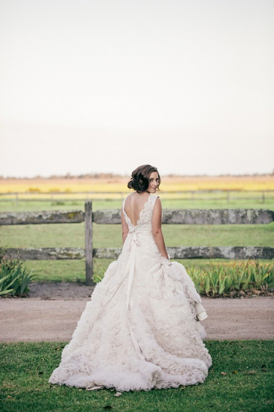 romantic wedding style2297 550x825 Sam & Amandas Romantic Wedding In Berry