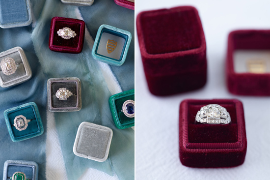 velvet ring box0008 Vintage Velvet Ring Boxes From The Mrs Box