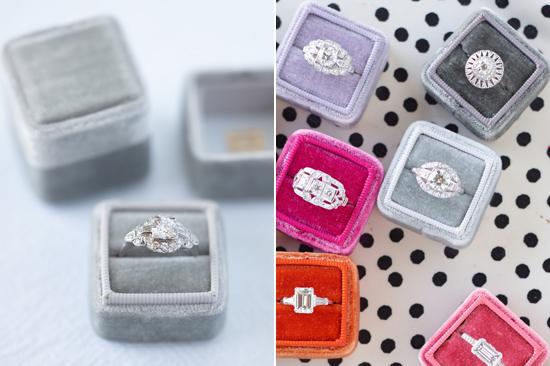 velvet ring box0009 Vintage Velvet Ring Boxes From The Mrs Box