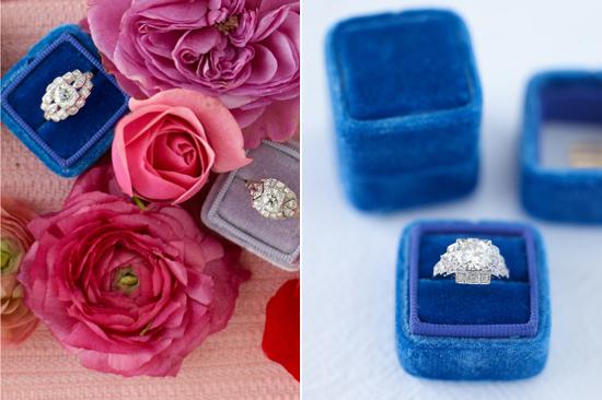 velvet ring box0012 Vintage Velvet Ring Boxes From The Mrs Box