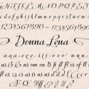 Donna Lena Webfont Desktop font « MyFonts 550x272 125x125 Friday Roundup