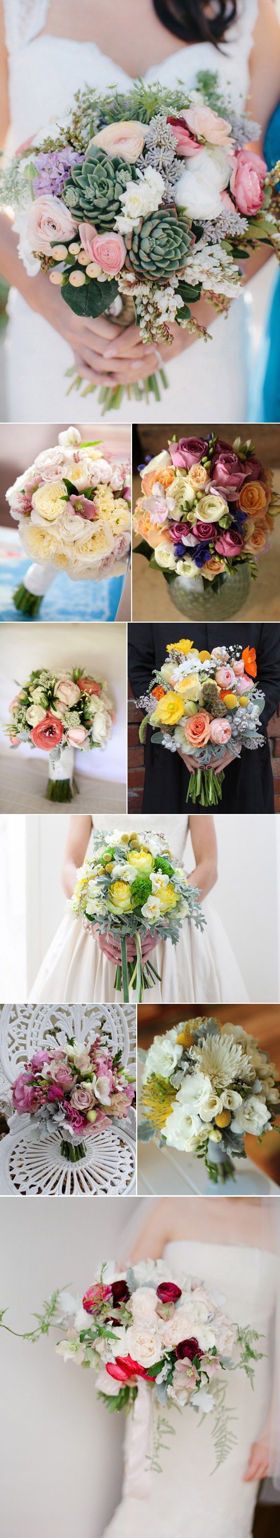 Spring bridal bouquets 1 Spring Wedding Bouquets