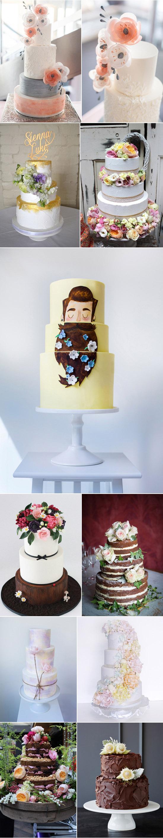 Spring inspired wedding cakes