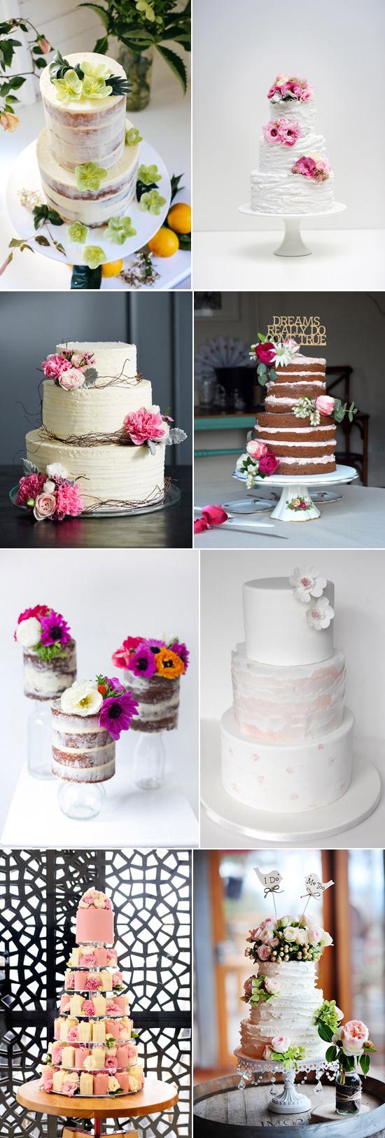 Spring wedding Cake Inspiration Spring Wedding Cakes