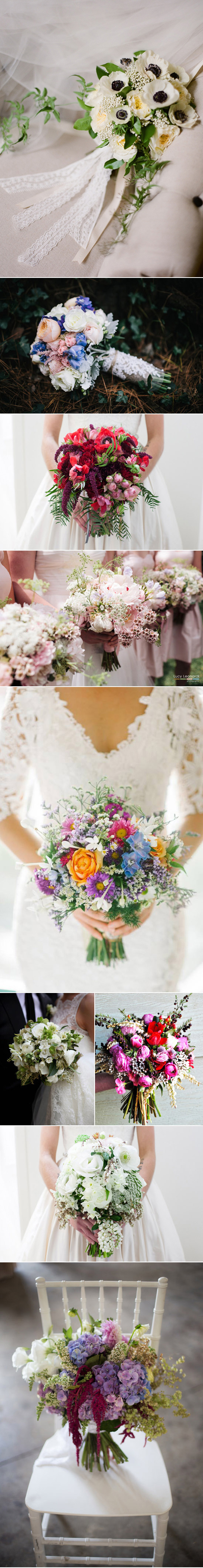 Spring wedding bouquet pictures Spring Wedding Bouquets
