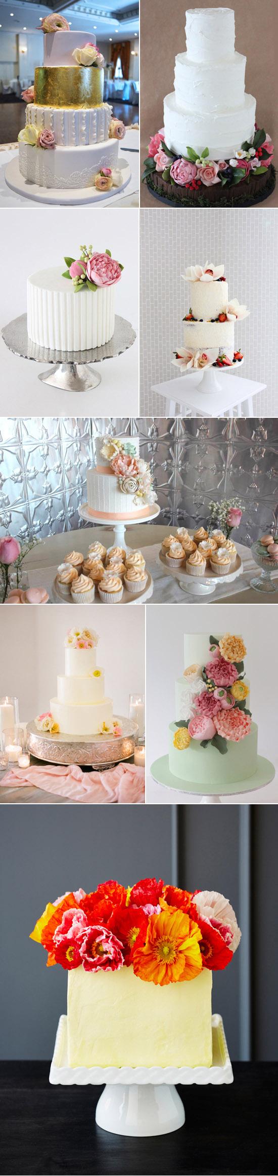 Spring wedding cake ideas Spring Wedding Cakes