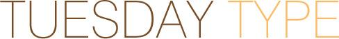 TUESDAY TYPE Tuesday Type Sparkle Script