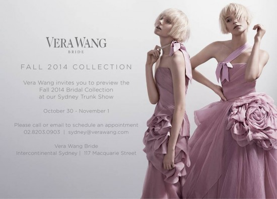 Vera Wang Sydney Trunk Show 550x396 Friday Roundup