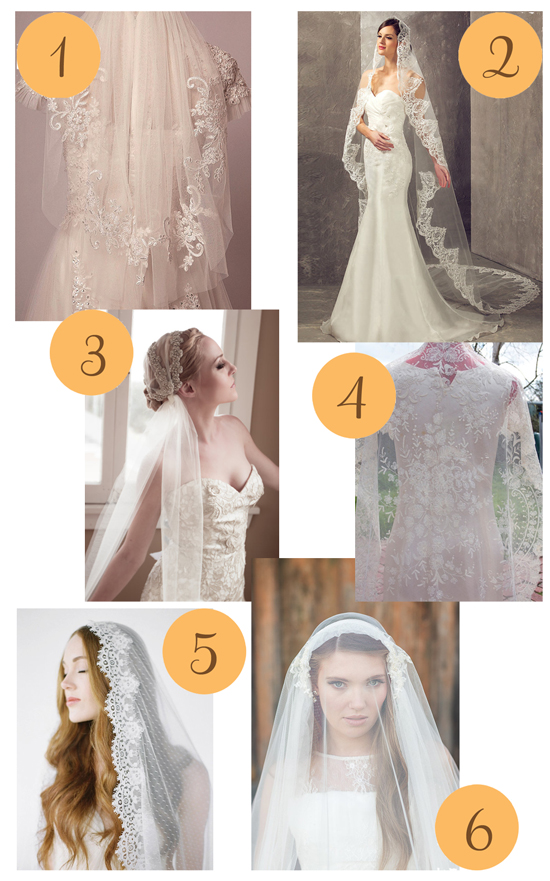 Wedding veils Etsy Roundup Wedding Veils