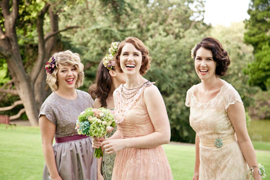 melbourne vintage wedding29 Finding The Perfect Bridesmaids Dresses