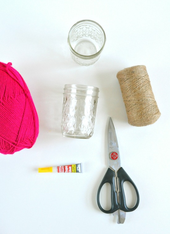 what you need1 DIY Twine Wrapped Jars