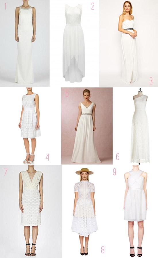 white bridesmaid dresses Bridesmaids In White